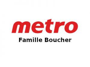 logo metro famille Boucher